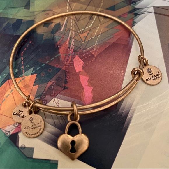Alex and Ani Jewelry - Alex and Ani Heart Lock Bracelet